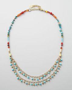 Multicolor Beaded Necklace - Neiman Marcus