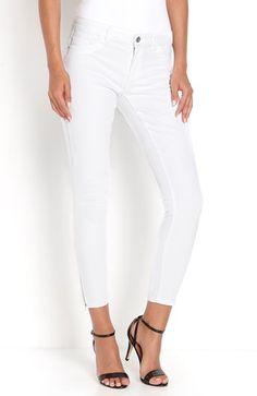 Mega seje ONLY Jeans Kendell 7/8 Hvid ONLY Underdele til Dame til enhver anledning