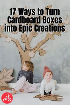 17 Ways to Turn Cardboard Boxes into Epic Creations Cardboard Boxes, Fun Crafts For Kids, Play Houses, Cool Stuff, Corrugated Box, Dollhouses