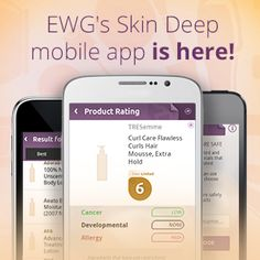 Shopping For Cosmetics? Take EWG's Skin Deep App | Environmental Working Group  Check for toxic chemicals in your cosmetics.