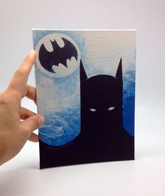 Batman Acrylic painting on canvas panel by AnnaTrimmelPaintings
