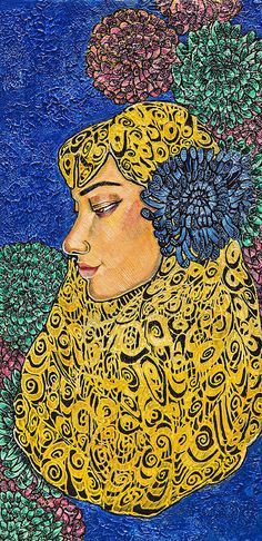 CHRYSANTHEMUM 3(Acrylic On Canvas)by Kajori Ghoshal.