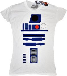 Star Wars - R2-D2 Design Female T-Shirt A female cut of a tee with the recogn - - - Buy Collectables, Action Figures, T-Shirts, True Blood & Pop Culture Merchandise from Popcultcha Australia