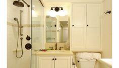 Over Toilet Storage Small Bathroom Redo, Blue Bathroom Paint, Small Bathroom Ideas On A Budget, Bathroom Vanity Decor, Bathroom Floor Tiles, Bathroom Interior Design, Bathroom Color Schemes, Bathroom Colors, Over Toilet Storage