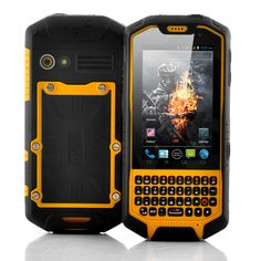 Behold, the world's toughest Phone =====> Android 4.0 phone  QWERTY Keyboard  IP 67 Waterproof rating  1GHz Dual Core processor  Walkie Talkie  Portable WiFi hotspot (3g tethering)