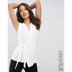 Discover women's workwear at ASOS. Shop the full collection of officewear for women, from ladylike shift dresses to super-smart tailoring available at ASOS. White Wrap Top, White Tops, Wrap Blouse, V Neck Blouse, Sleeveless Blouse, Wrap Front Top, Business Dresses, Tall Women, White V Necks