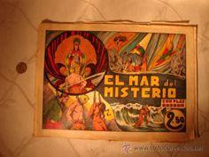 ANTIGUO COMIC ORIGINAL Flas FLASH Gordon. Ediciones Hispano americana. El mar del Misterio