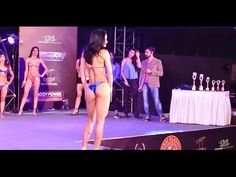 Hot Female Contestant Posing For Jerai Women Physique Competition @ Bodypower Expo 2016 Mumbai India