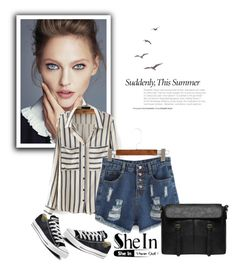 """SheIn III"" by nermina-okanovic ❤ liked on Polyvore featuring Converse and shein"