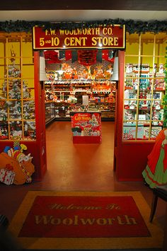 Next time I come back East I want to go!  I saw this in Martha Stewart Living.  It is called the National Christmas Center on Rt 30 in Paradise, PA. There is a vintage Woolworth's on display complete with retro Christmas decoration collection. :)