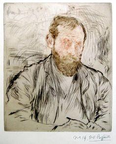 """Jean François Raffaelli (1850–1924): """"Self-Portrait"""". Colour etching and drypoint, 1893"""
