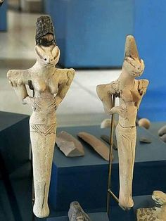 Lizard statues from the Ubaid period 4000-5000 BC before the Sumerians. Some believe these to represent an advanced Alien race of Lizard People who lived on earth.