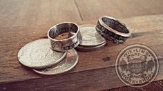 Quarter dollar and one dollar coin ring