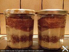Chefkoch.de Rezept: Geschichteter Schokokuchen im Glas