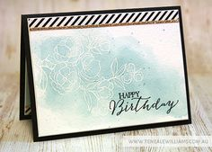 By Teneale Williams | Stampin' Up! Artisan Blog Hop | Indescribable Gift. Sentiment from Rose Wonder