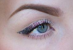Pink glitter eyeliner