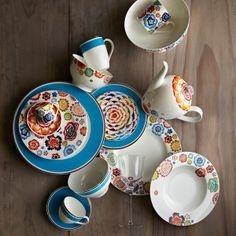 Villeroy /& Boch Anmut Piatto Ovale Multicolore Porcellana Bone China 34 cm