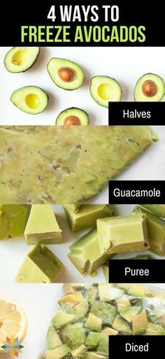 Did you know that freezing avocados seriously works? Here are 4 Ways to Freeze Avocados so you can save loads of money when they're on sale! Freezing Avocados -- 4 Ways to Do It! via Adrienne {Whole New Mom} Freeze Avocado, Avocado Recipes, Paleo Recipes, Real Food Recipes, Dip Recipes, Pork Recipes, Free Recipes, Keto Foods, Recetas Whole30