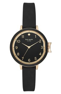 32e9a3110b Trying To Get kate spade new york park row silicone strap watch