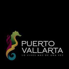 new logo for Puerto Vallarta@ the International world Turism Fair Puerto Vallarta, Company Logo, Logos, Spaces, City, Logo, Visual Identity, City Drawing, Cities