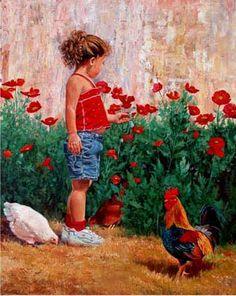Maddie - Fine Artist June Dudley painter of realistic country gardens, poetic landscape paintings, and nostalgic scenes