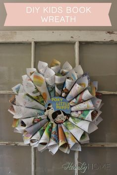 DIY Golden Book Page Wreath