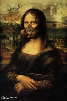 Still she insists on posing for the portrait [kalza] (Gioconda / Mona Lisa) Le Sourire De Mona Lisa, Mona Friends, Arte Van Gogh, La Madone, Mona Lisa Parody, Mona Lisa Smile, Renaissance Artists, Photo Images, Photoshop
