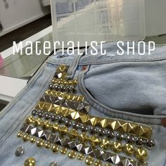 Levis studs by Materialist Gold & Silver  #fashion #levis #denim #studs #gold #vintage #shopping