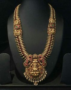 Gold Jewelry For Cheap Gold Jewelry For Sale, Gold Jewelry Simple, 18k Gold Jewelry, Jewelery, Gold Temple Jewellery, Gold Jewellery Design, Indian Wedding Jewelry, Gold Necklace, Antique Necklace
