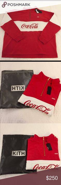 c6b7c71f6140 Kith x Coca-Cola Half Zip Rugby Pullover Brand new and authentic. Never worn