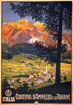 TX66 Vintage Italy Cortina D Ampezzo Italian Travel Poster Re-Print A1/A2/A3