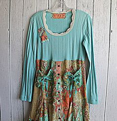 Womens Clothes / Upcycled Boho Funky Dress / by AmadiSloanDesigns
