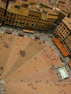 Terra cotta, #Siena, Italy. The climb to the top of this medieval tower is so narrow I grazed my shoulders on the walls.                                                                                                                                                     More