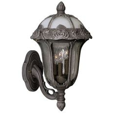 Special Lite Products Rose Garden 1 Light Outdoor Sconce Shade Color: Clear, Finish: Swedish Silver
