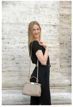 Eva Riccobono is showing off the latest model of FENDI #Handbag #Peek #A #Boo. You can rent it on www.rentfashionbag.com at a very convenient price! Rent, don' t buy and save big!