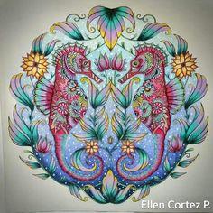 Inspirational Coloring Pages by Ellen Cortez #inspiração #coloringbooks #livrosdecolorir #jardimsecreto #secretgarden #florestaencantada #enchantedforest #reinoanimal #animalkingdom #adultcoloring #johannabasford #lostocean #oceanoperdido #milliemarotta