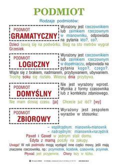 Gramatyka Teaching English, Learn English, Polish To English, Polish Language, Language And Literature, Language School, School Subjects, Eighth Grade, School Notes