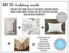 30 Day Design Challenge: Day 25 Create the Perfect Bedding, master bedroom decor, bedroom design