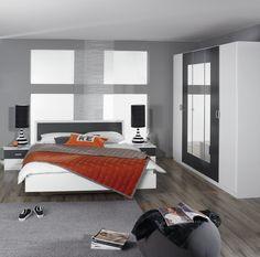 Merveilleux Chambre Adulte Design Blanche Et Grise Selenia