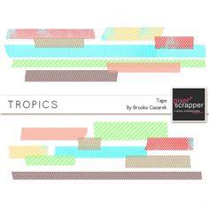 Tropics Tape Kit by Brooke Gazarek | Pixel Scrapper digital scrapbooking