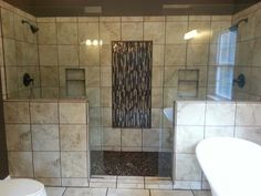 Master bathroom double shower