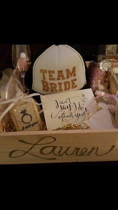 Great way Britt asked her Maid of honor and Bridesmades!