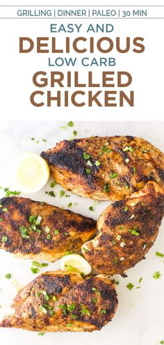 The BEST Grilled Chicken you'll ever make - perfectly cooked boneless chicken breast coated with a flavorful spice rub and marinade that you'll be addicted to! An easy & delicious grilled chicken recipe that only takes 20 min! #chicken #grilledchicken #spicerub #easychickenrecipe #grillingrecipe Best Grilled Chicken Recipe, Easy Chicken Recipes, Healthy Eating Recipes, Healthy Eats, Homemade Spices, Spice Rub, Boneless Chicken, Grilling Recipes, The Best