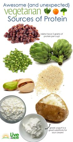 awesome (and unexpected) vegetarian sources of protein.