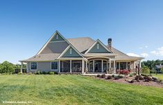 The Chesnee home plan enjoys porches and a rear patio. Dream home #1290.