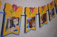 DISEÑO Banner ~ Disney de la belleza y el bestia cuentos empavesado ~ banderas coloridas 12 ~ 12 pies de largo ~ partido y decoración de la habitación ~ One Of A Kind