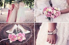 by eleonora sebastiani | #pink #romantic #summer #sea #dress #vintage #flowers #shoes #white