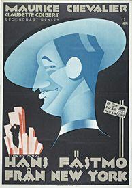 Gösta Åberg (1905-1981) – Affiche Maurice Chevalier (1930)