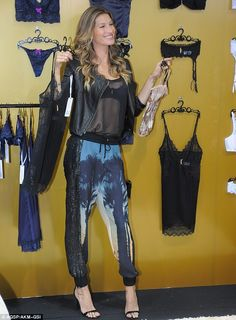Gisele Bündchen Intimates collection.  These are the worst pants I've ever seen.