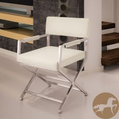 Christopher Knight Home Martine White Leather Director Style Dining Chair | Overstock.com Shopping - The Best Deals on Dining Chairs